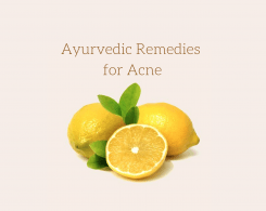 Ayurvedic remedies for acne