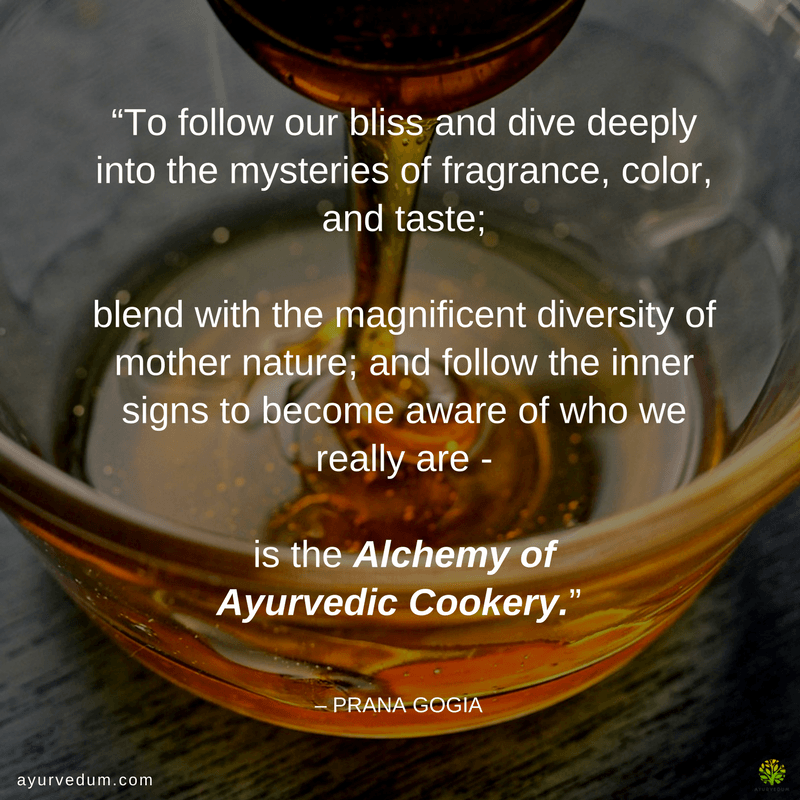 ayurveda quote cookery