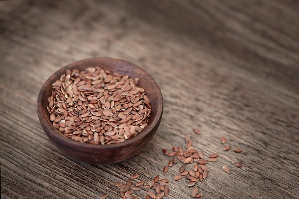 Flax seeds are packed with Omega-3 fatty acids.