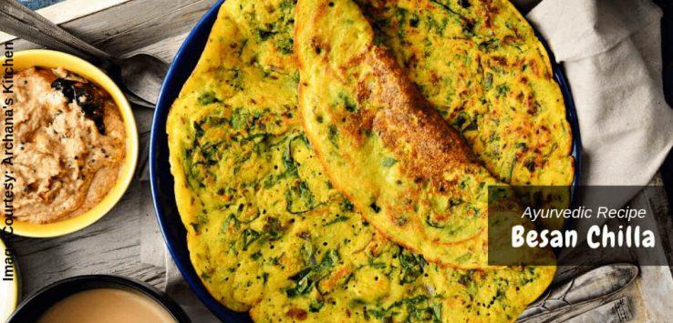 Besan chilla recipe _ Ayurvedum