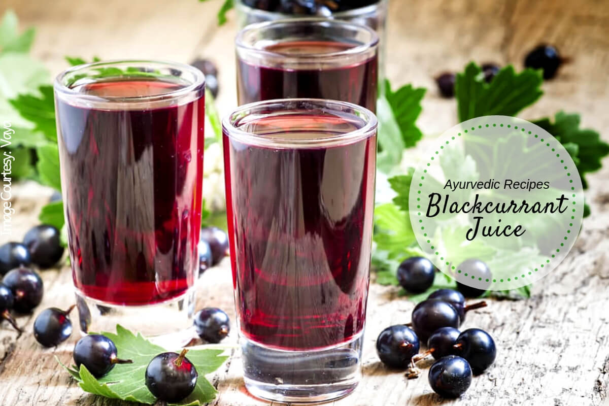 Healthy Juice Recipe Blackcurrant Juice With Energy